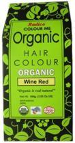 Radico COLOUR ME ORGANIC Wine Red 100% Natuurlijke BIO Organic 9-Kruiden Haarverf Zonder Ammoniak, Ammonia, PPD, PTD, Peroxide, Waterstofperoxide etc. o.a. Henna 100g