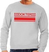 Dokter logo sweater grijs voor heren L