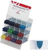 Blauwe textielstift met fijne punt