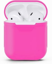 Airpods Silicone Case Cover Hoesje voor Apple Airpods - Roze