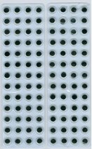 Wiebelogen zelfklevend rond zwart wit 8 milimeter 104 Stuks