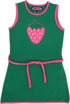 Happy Nr. 1-meisjes-jurk, kleed-Aardbei-kleur: groen, roze-maat 128