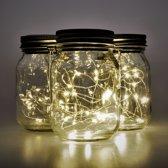 Gadgy Solar Jar Tafellamp - LED verlichting - Dag/Nacht Sensor - USB Oplaadbaar