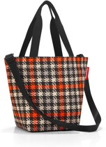 Reisenthel Shopper XS Schooltas - Maat XS - Kind - Polyester - 4 L - Glencheck Red Rood; Zwart; Zand