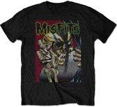 Misfits - Pushead heren unisex T-shirt zwart - L