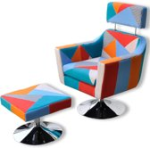 Fauteuil stof patchwork