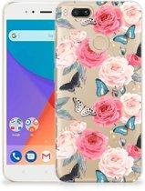 Xiaomi Mi A1 TPU Case Butterfly Roses