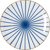 Riverdale Lines-Bord- Porselein-22cm-Blauw