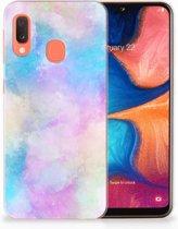 Siliconen Back Case Samsung Galaxy A20e TPU Hoesje Watercolor Light