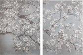 Art for the Home - Canvas Schilderij set - Orchidee - 2x 80x60 cm