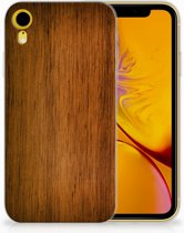 73672486e45b15 Apple iPhone Xr Uniek TPU Hoesje Donker Hout