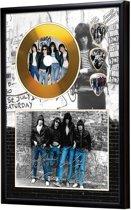 Golddiscdisplay met plectrums Ramones ingelijst