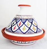 Handgemaakte en handbeschilderde authentieke Marokkaanse tajine 23 cm