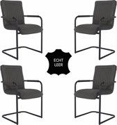 Feel Furniture - Seal stoel set 4 - Donker Grijs