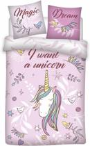 Unicorn Magic Dream - Dekbedovertrek - Eenpersoons - 140 x 200 cm - Roze