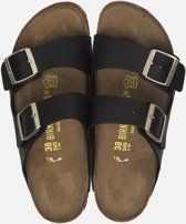 Birkenstock Arizona Black Slippers - Dames -Goud Gesp - Maat 37