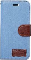 Mobigear Wallet Book Case Denim Baby Blue iPhone 7 / 8