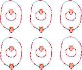 Small Foot Halskettingen En Armbanden 12 Stuks Roze