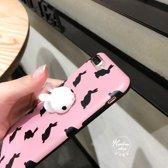 iPhone 7 Plus / iPhone 8 Plus (5,5 Inch) - hoes, cover, case - TPU - 3D Squishy Konijn