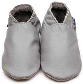 Inch Blue babyslofjes plain grey maat 2XL (16 cm)