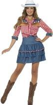 Rodeo Doll Kostuum met Hoed | maat M ( 40 - 42 )