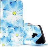 Let op type!! Voor Galaxy S9 orchidee patroon horizontale Flip lederen draagtas met houder & kaartsleuven & portemonnee