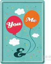 Nostalgic Art Metalen Postkaart You & Me 10x14 cm