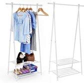 Staand Design Garderoberek Kledingstandaard Rek Met Schoenenrek Kleding Haken Hangers - Garderobe Klerenhanger Hangrek