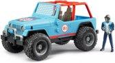 Bruder Jeep Cross Country blauw met chauffeur