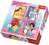 4 in 1 -  Disney Prinsessen Puzzel