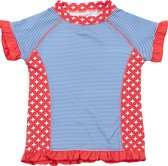 Ducksday UV shirt korte mouwen meisje Blue stripe nieuw - 8 jaar