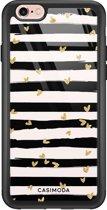 iPhone 6/6s glazen hardcase - Hart streepjes