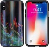 BackCover Aurora Glass voor Apple iPhone X/XS Groen