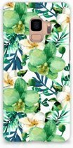 Samsung S9 Backcover Orchidee Groen