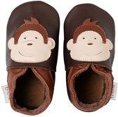 Bobux babyslofjes Monkey chocolate - Maat Medium