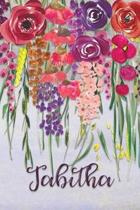 Tabitha: Personalized Lined Journal - Colorful Floral Waterfall (Customized Name Gifts)