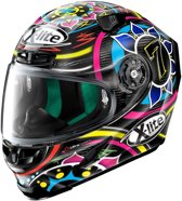 X-LITE X-803 ULTRA CARBON 54 DAVIES CARBON BLACK PINK BLUE RED FULL FACE HELMET 2XL