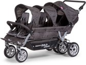 CHILDHOME - SIX SEATER WANDELWAGEN ANTHRACITE MET REM +RC+SC