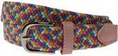 Multicolor webbing riem - Maat: 85 cm