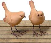 Leuke vogelbeeldjes  - set van 2 stuks