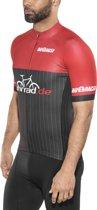 fahrrad.de Pro Race Fietsshirt korte mouwen Heren, black-red Maat M