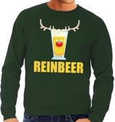 Foute kersttrui / sweater met bierglas Reinbeer groen voor heren - Kersttruien L (52)