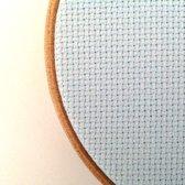 100 x 130 cm Aida 14 count Licht blauwe borduurstof - touch of blue borduurstramien katoen