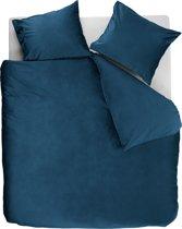 At Home by Beddinghouse Tender - Dekbedovertrek - Fluweel - 140x200/220 cm - Blauw