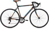 "Ks Cycling Fiets 28"" racefiets Piccadilly zwart-oranje met 14 versnellingen -"