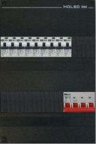 EMAT groepenkast 3 fase 9 aardlekautomaten en afmetingen 330x220 mm