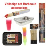 Barbecue grillschalen - Barbecue drinkbekers - Barbecue satéstokjes - Barbecue shotglaasjes - Barbecuegrillschaal - BBQ-lucifers - Barbecuespies
