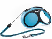 Flexi New Comfort Hondenriem - Blauw - M - 8 M