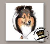 Tegel Hond Shetland Sheepdog
