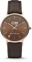 CO88 Collection 8CW-10010 - Horloge - Leer - donker bruin - 36 mm